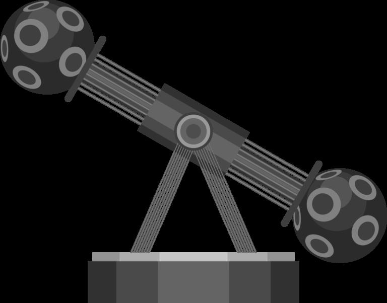 プラネタリウム投影機のイラスト