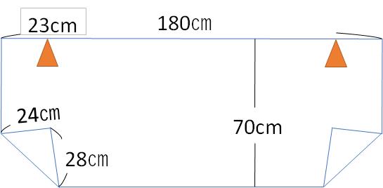 フロントガラスシート設計図