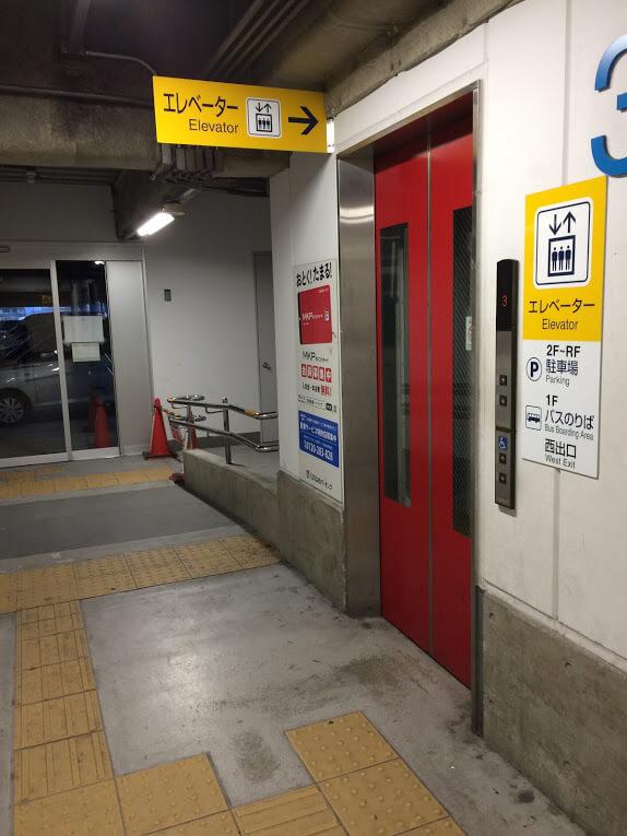 国府宮駅3階エレベータ