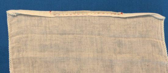 マスクビニールタイ縫い付け