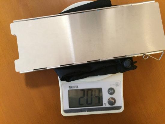 風防の重さ