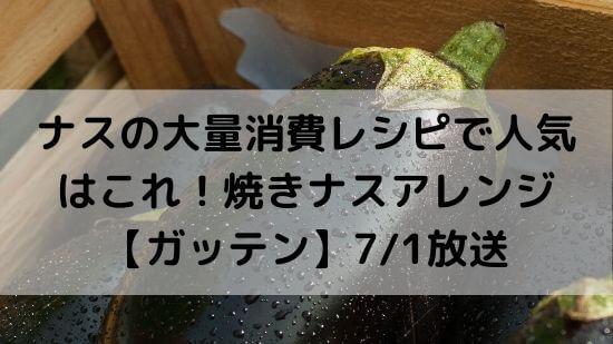 焼きナスアレンジタイトル